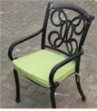 Patterned Stationary Dining Chair Garden Furniture
