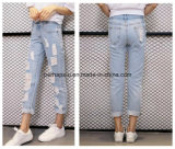 2016 New Women Clothes Casual Ripped Denim Trousers