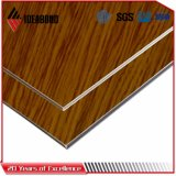 Ideabond Black Walnut Wooden Aluminium Sandwich Panel (AE-303)