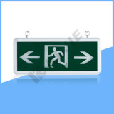 Kejie Super Cheap Single Sided/Double Sided Exit Sign IP20 LED Exit Light with Glass Panel
