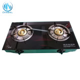 Rwanda Two Burners Glass Top Non-Magnetic Frame Gas Cooker (DS-GSG208)