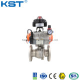 Stainless Steel 2PC/3PC/3-Way Pneumatic Actuated Flanged Floating Control Ball Valve