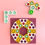 Pop Fidget Sensory Toys Autism Special Needs Stress Relief Silicone Pressure Relieving Toys Round and Square Squeeze Toys for Kids Children Adults