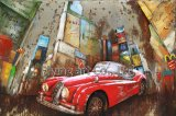 3D Metal Wholesale Street Oil Painting Reproduction for Cars