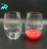 10oz Square Fancy Decorated Wine Glasses
