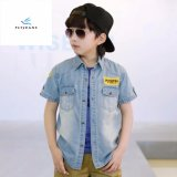 Fashion Summer Leisure Boys′ Long Sleeve Denim Shirt by Fly Jeans