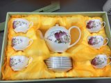 14PCS Coffee Set /Tea Set Promotional Gift Fine China with High Quality Favourable Price