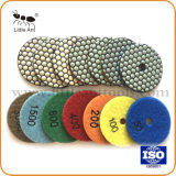 "3""/80mm High Performance Industrial-Grade Diamond Polishing Pads, Dry Use for Abrasiving Marble, Granite, Terrrazzo."