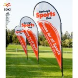 Outdoor Advertising Flying Feather Beach Promotion Banner Flag