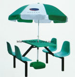 School Canteen Dining Fiberglass Table and Chair Set (LL-WST005)