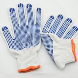 Superior Grip PVC Dots Cotton Working Gloves for Construction Gardening Summer Breathable Medium Duty All Purpose.