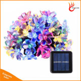 Decorative Peach Flower Solar Battery Rechargeable String Light with 20/30/50 LED Optional Outdoor Lighting