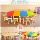 MDF Children Preschool Furniture Round and Oval Table