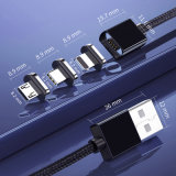 3 in 1 Magnet Fast Charging USB Data Cable/ Mobile Phone Accessories/ Mobile Phone Accessory/ Cell Phone Accessories