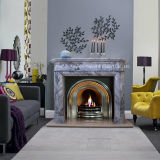 Europe Style Sandstone/White Marble/Travertine Sculpture Fireplace for Home Decoration