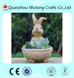 Garden Ornament Custom Rabbit Resin Flower Pot