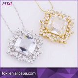 Big Zirconia Stone Jewelry Pendant Necklace