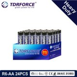 1.5V China Manufacture Heavy Duty Battery for Smoke Detetor (R6-AA 24PCS)