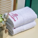 100% Cotton Bordering Bath Towel (QH0095)