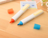 Function Plastic Cute Fluorescent Pen with Sticky Note