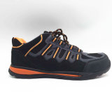 Sports Style Suede Leather Safety Shoe with Steel Toe Steel Midsole