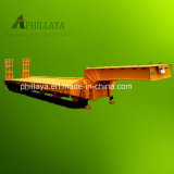 China 3-5 Axles 50-80tons Extendable Low Bed Semi Truck Trailer