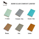 Clear, Green, Grey, Bronze, Blue Reflective Offline Low E Coating Glass