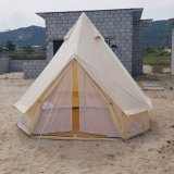 Luxury Outdoor Cotton Canvas Family Camping Sahara Bell Tent with Awning