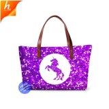 Soft Materials with Custom Logo 3D Print Unicorn Patterns on Handbag