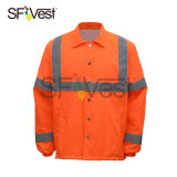 100% Polyester Soft Fabric Spring Wear Hi Vis Road Safety Product Working Without Hood