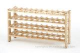 40-Bottle Floor Wood Storage Stackable Wine Rack for Home