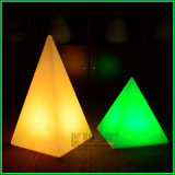 Glowing Pyramid Triangle Table Lamp Colorful Christmas Decoration Lamp