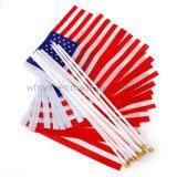 High Quality Cheap Custom Mini Small Hand Held Waving Flags
