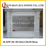 White Marble Fireplace Mantel for Home Decor