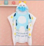 Kids Bath/Beach Towel with Hood Microfiber Soft Towel for Baby Green