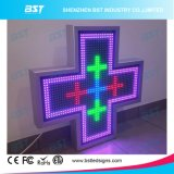 P16 Double Face Full Color Outdoor Pharmacy LED Cross Screen