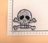 Factory Custom Cheap Embroidery Letter Patch Black Garment
