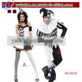 Harlequin Jester Clown Costume Halloween Carnival Birthday Party (BO-6036)