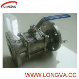 Ss Full Port 3-PC Flange Ball Valve