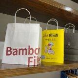 Custom Logo Printed Cheap Recycled Take Away Food Packaging Shopping Paper Bag
