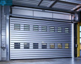 Rapid Automatic Industrial Exterior Aluminum Alloy Security Thermal Insulated Overhead Garage Rolling up Warehouse Roll up Metal Coiling Spiral High Speed Door