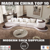 Modern White Leather Sofa with Chaise Set (Lz105)