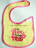 Factory Produce Custom Design Embroidered Cotton Jersey Baby Apron Bib