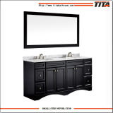 China Manufacturer Wholesale Double Sinks Bathroom Vanity Cabinet with Marble Top