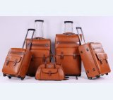 Best Price Luggage Set Tow Wheels Leather Travel Trolley Luggage Bags
