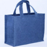 Custom Fashion Tote Felt Bag with Outside Front Pocket Felt Bags