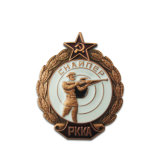 Wholesale Cheap Custom Army Police Sports Running Gold Souvenir Magnetic Military Badge