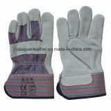 Cow Split Leather Hand Working Gloves with Ce En388