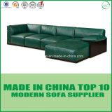 Contemporary Living Room Furniture Set Leather Wooden Sofa with Feather