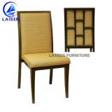Aluminum Frame Wooden Look Restaurant Chair
